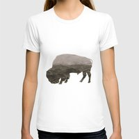 bison T-shirts featuring Bison by Outdoor Bro
