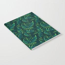 Fern leaves - green Notebook