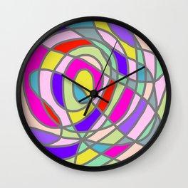 Stain Glass Abstract Meditation Tango Wall Clock
