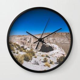 Over the Edges of the Atacama Desert, Bolivia Wall Clock
