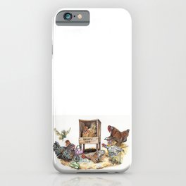 """Life in the Coop"" funny chicken watercolor iPhone Case"