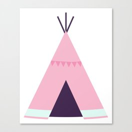 Pink Tipi Canvas Print