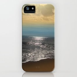 Golden Sky Over The Ocean iPhone Case