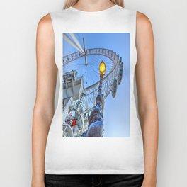 The London Eye and Street Lamp Biker Tank