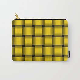Large Gold Yellow Weave Carry-All Pouch