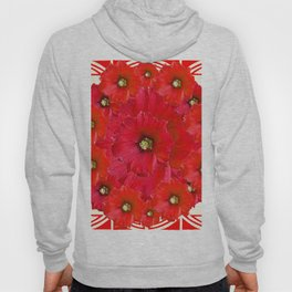 AWESOME RED FLOWERS BOUQUET PATTERN ABSTRACT ART Hoody