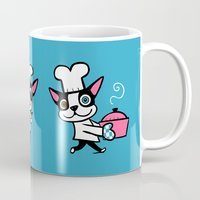 cooking Mugs featuring Cooking With Boogie by DoggieDrawings