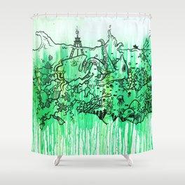 BATTLE ROYALE UNDERWATER Shower Curtain