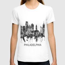 Philadelphia Pennsylvania Skyline BW T-shirt