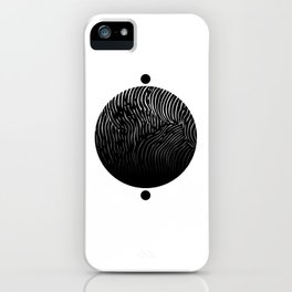 Lined World iPhone Case