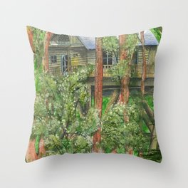 Hidden Treehouse Throw Pillow
