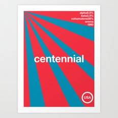 centennial//single hop Art Print