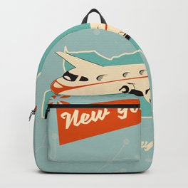 New York State vintage travel poster Backpack