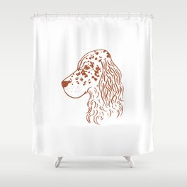 English Setter (White and Brown) Shower Curtain