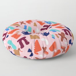 Coral Seagrove Terrazzo Pattern Floor Pillow