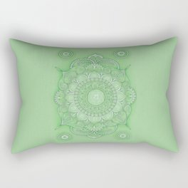 mandala Chakra Anahata Rectangular Pillow