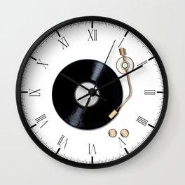 Record Deck Wall Clock