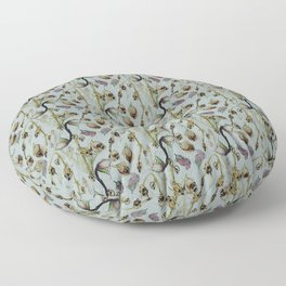 Dead Rose & Snapdragon Pattern Floor Pillow