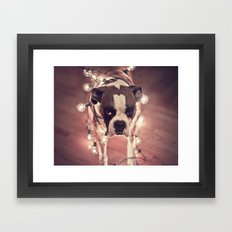 Will work for treats Framed Art Print