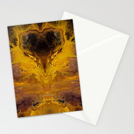 The Hunger Game, fluid acrylic Stationery Cards