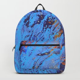 American Dream Abstract Art Red Gold And Blue Backpack