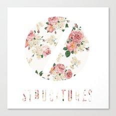 Structures Floral Canvas Print