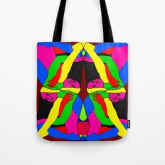 Boxed Gymnast Tote Bag