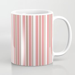 Dusty Rose Pink and White Vertical Stripes Coffee Mug