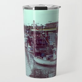 Boats in the blue lagoon Travel Mug