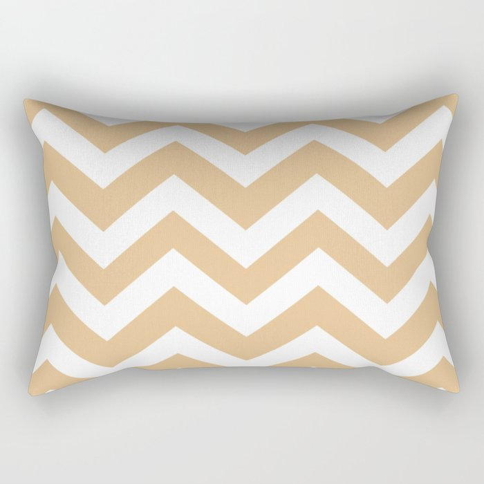 Gold (Crayola) - pink color - Zigzag Chevron Pattern Rectangular Pillow