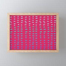 Fiesta at Festival - Raspberry & Turquoise Framed Mini Art Print