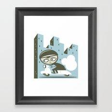 Scooter Boy Framed Art Print