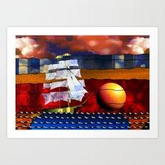 Doodlage 04 - Lets sail away Art Print