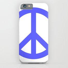 Peace (Azure & White) iPhone Case