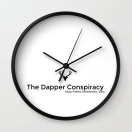 Simple Logo Black Wall Clock
