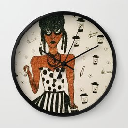 Coffee & a Spliff Wall Clock