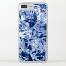 Ice background Clear iPhone Case