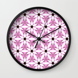 Flower Lattice Pink Wall Clock