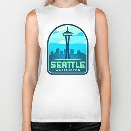 Seattle Badge Biker Tank