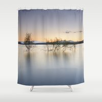 "peace Shower Curtains featuring ""Peace"" by Guido Montañés"