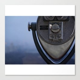 Top Of The Rock Telescope Canvas Print