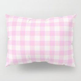 Blush pink white gingham 80s classic picnic pattern Pillow Sham