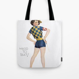Hard To Beat - Vintage Pin Up Girl Art Tote Bag