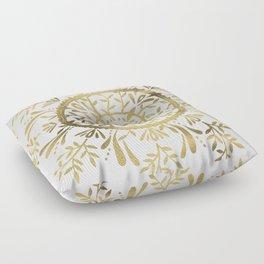 Leaf Mandala – Gold Palette Floor Pillow