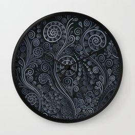 3D ornaments, soft blue Wall Clock