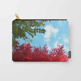 Japanese Maple in Fall with Blue Sky Carry-All Pouch