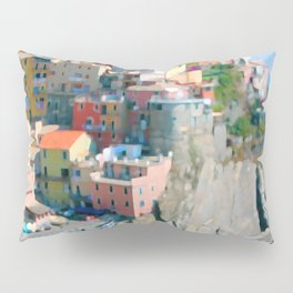 Italy. Cinque Terre - Cliffside Pillow Sham