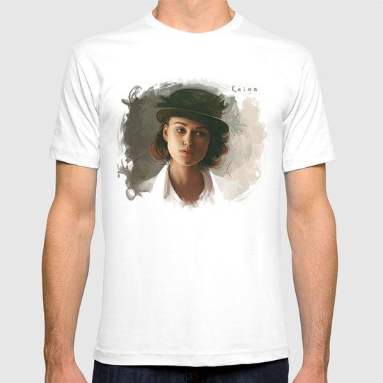 Keira Knightley in hat T-shirt