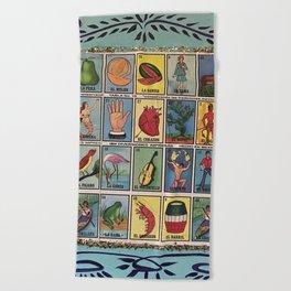 Mexican Bingo Loteria Beach Towel