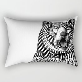 Ornate Grizzly Bear Rectangular Pillow